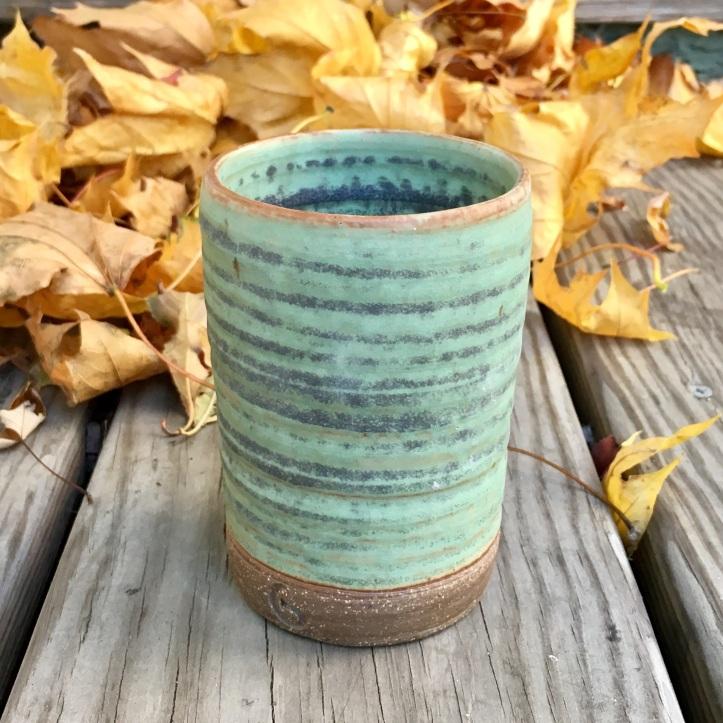 Cylinder vase (Granny Smith green glaze) *n/a
