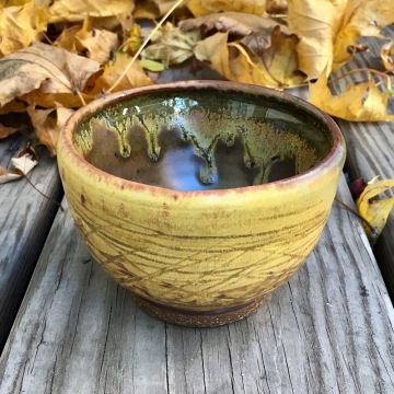 Small carved bowl (Saint John's yellow with sunshine yellow) *n/a