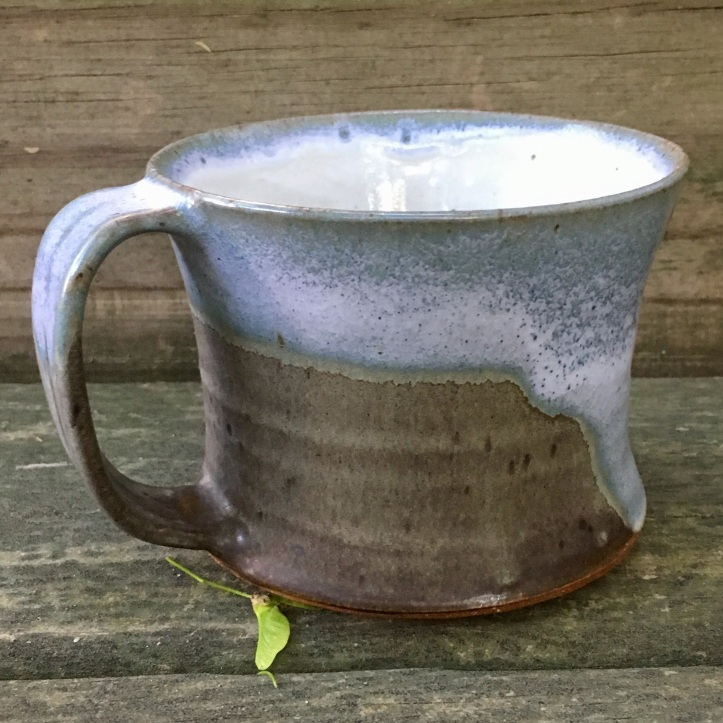 Concave mug (shaner white over celery glaze) *n/a